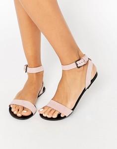 Кожаные сандалии Pieces Pscarla - Розовый