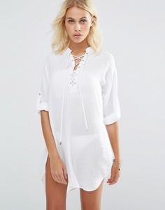 Пляжные шорты на шнуровке New Look - Белый