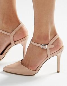 Туфли на каблуке с заостренным носком New Look - Stone