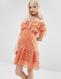 Платье с оборками Sister Jane Maia - Оранжевый