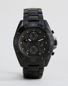Черные часы-браслет из нержавеющей стали Michael Kors Jetmaster MK8517 - Черный