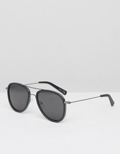 Черные солнцезащитные очки-авиаторы ASOS - Черный