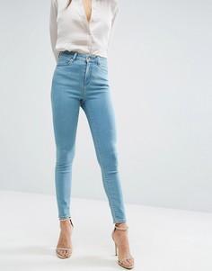 Выбеленные джинсы скинни ASOS RIDLEY - Серый