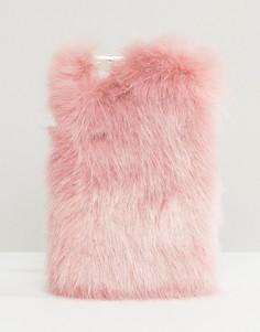 Чехол для iPhone 6/6S из искусственного меха Skinnydip - Розовый