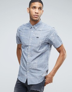 RVCA Overlap Print Shirt - Синий
