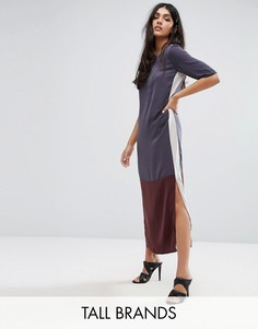 Y.A.S Tall Camis Colour Block Longline Midi Dress - Мульти