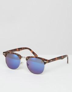 Солнцезащитные очки в черепаховой оправе ASOS - Коричневый