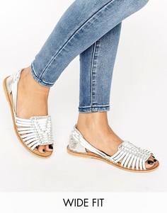 Кожаные туфли на плоской подошве для широкой стопы ASOS JOEL - Мульти