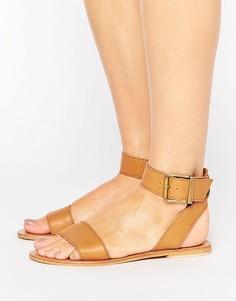 Кожаные сандалии ASOS FLEEK - Рыжий