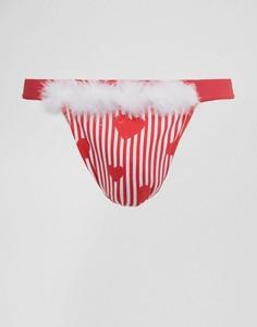 Стринги с сердечками ASOS Valentines - Красный