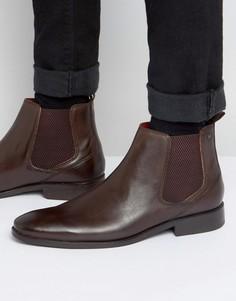Кожаные ботинки челси Base London Cheshire - Коричневый