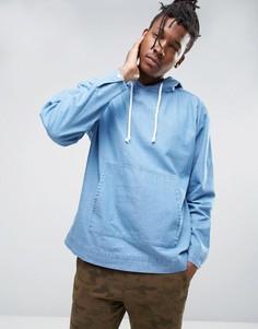 ASOS Oversized Denim Hoodie In Blue - Синий