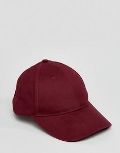 Бордовая бейсболка ASOS - Красный