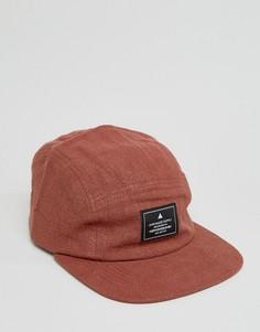 5-панельная фактурная кепка ASOS - Красный