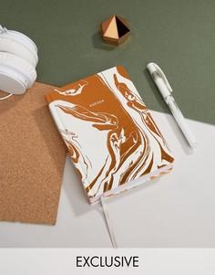 Ежедневник медного цвета с мраморным эффектом Ohh Deer - Мульти