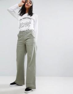 Свободные брюки с широкими штанинами и отворотами ASOS - Мульти