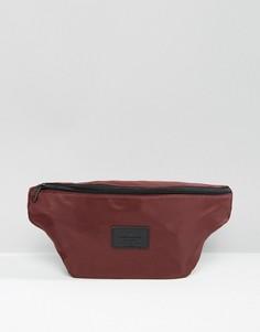 Бордовая сумка-кошелек на пояс ASOS - Красный