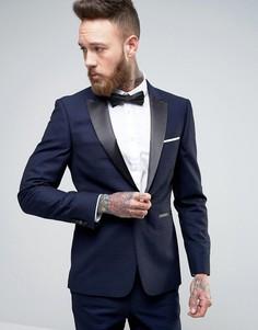 Облегающий смокинг Burton Menswear - Темно-синий