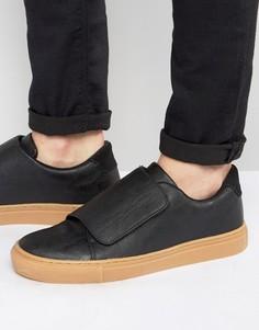 Кроссовки с ремешком и резиновой подошвой ASOS - Черный