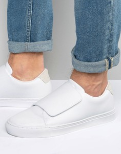 Белые кроссовки с ремешком ASOS - Белый