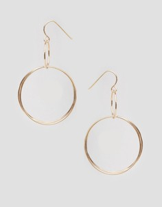 Серьги с двумя кольцами Nylon - Золотой