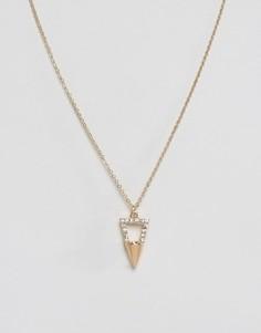 Ожерелье с треугольником Nylon - Золотой
