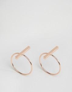 Набор из 2 колец с планкой Nylon - Золотой