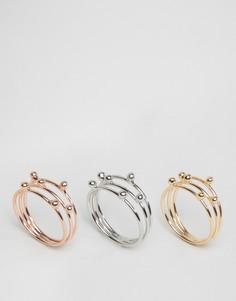 Набор из 3 колец Nylon - Золотой