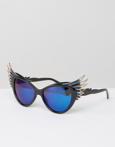 Очки кошачий глаз с крылышками Jeepers Peepers - Черный