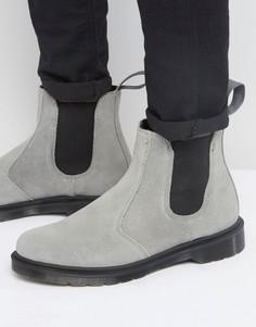 Серые замшевые ботинки челси Dr Martens 2976 - Серый