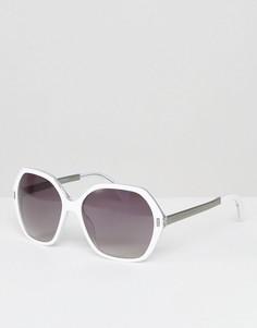 Солнцезащитные очки с шестигранной оправой Marc By Marc Jacobs - Белый