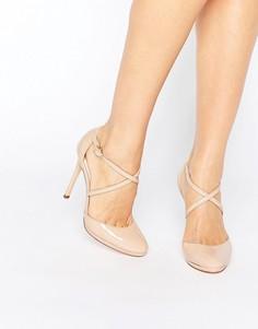 Телесные туфли на каблуке Faith Clara - Бежевый