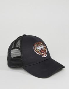 Кепка с вышивкой тигра ASOS - Черный