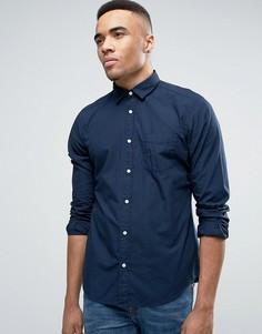 Темно-синяя узкая рубашка на пуговицах Esprit - Темно-синий