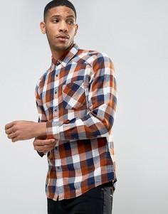 Узкая рубашка в клетку Esprit - Бежевый