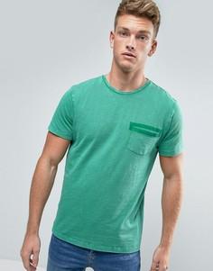 Футболка с накладным карманом Esprit - Зеленый