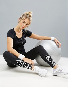 Спортивные леггинсы с принтом Elle Sport - Черный