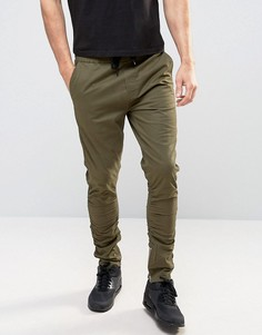 Зауженные брюки чиносы с молниями Brave Soul - Зеленый