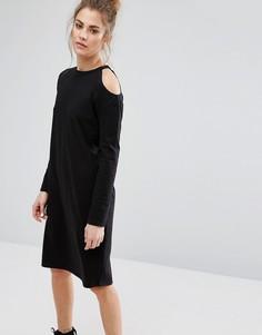 Платье-футболка с открытыми плечами Daisy Street - Черный