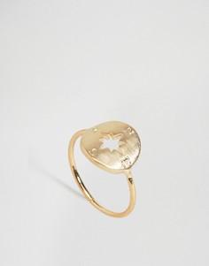 Кольцо ограниченной серии с компасом - Золотой Asos