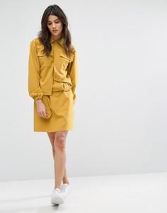 Мини-юбка с кольцом House Of Sunny - Желтый