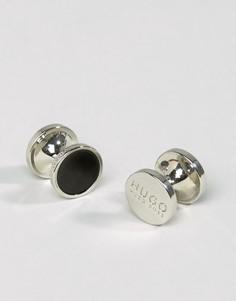 Черные круглые запонки HUGO by Hugo Boss E-Tokeep - Черный