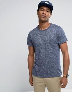 Темно-синяя футболка с карманом Abercrombie & Fitch - Темно-синий