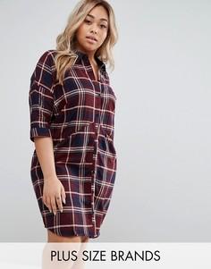 Платье-рубашка в клетку Junarose Plus - Мульти
