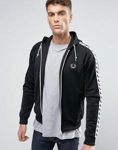 Черная спортивная куртка с капюшоном Fred Perry Sports Authentic - Черный