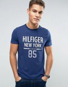 Футболка классического кроя с логотипом Tommy Hilfiger Karl NY - Темно-синий