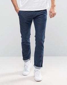 Узкие джинсы с кромкой Edwin ED-71 Red Listed - Синий