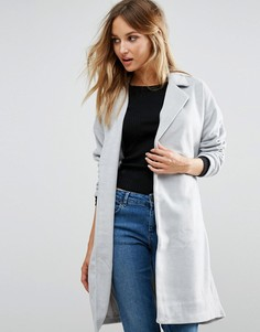 Пальто с поясом First & I - Серый