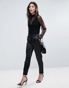 Сатиновые брюки Vila - Черный