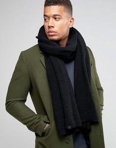 Черный вязаный шарф Esprit - Черный